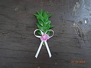 Pierka - Krušpánové pierko č.7 ružový kvet - 10829063_