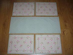 Úžitkový textil - Sada obrus + prestieranie 4ks - 10829913_