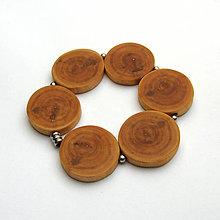 Náramky - Drevený náramok - topoľové halúzky na gumičke - 10829765_