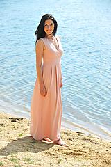 Šaty - Šaty Nina, pudrové, vel. S/M - 10828968_