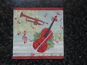 Papier - hudobné nástroje - 10828553_