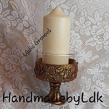 Svietidlá a sviečky - Sviernik s 3D kvietkami - 10831021_