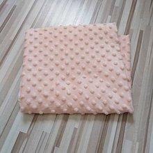 Textil - Mini minky vankúš oblak (Marhuľová) - 10832061_