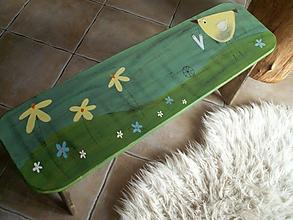 Nábytok - Maľovaná lavička - 10831666_