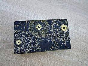 Peňaženky - Peňaženka na 8 kariet,koženka,bavlna - 10830812_