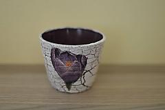 Svietidlá a sviečky - Fialový svietnik - 10831984_