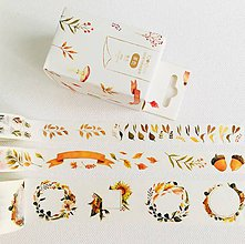 Papier - sada ozdobných papierových pások Jeseň - 10830795_