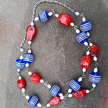 Náhrdelníky - Koralová nálada- dlhý náhrdelník - 10830868_