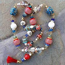 Náhrdelníky - Námornícka nálada- dlhý náhrdelník - 10830898_
