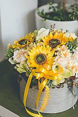 Dekorácie - Flowerbox - SLNEČNICA - 10831344_