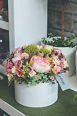 Dekorácie - Flower box - VINTAGE RUŽA MAXI - 10831446_
