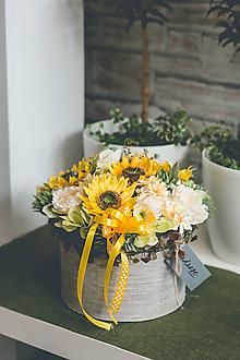 Dekorácie - Flowerbox - SLNEČNICA - 10831343_