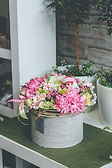Dekorácie - Flowerbox - PINK - 10831533_