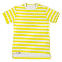 Oblečenie - Pánske tričko - lemon stripes - 10831655_