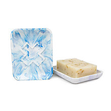 Nádoby - Upcyklovaná mydelnička (Modrá) - 10833016_