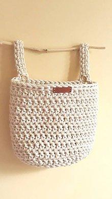 Úžitkový textil - Vreckár (Béžová) - 10831972_