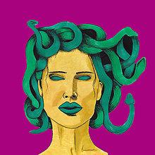 Grafika - Medúza - print - 10830819_