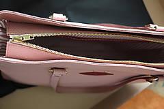 Kabelky - Kožená SHOPPER BAG- LOLA- Staroružová - 10831005_