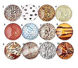 Komponenty - KA126 Kabošon zvierací motív 12 mm - 10831657_