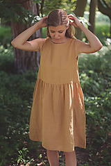 Šaty - miljö ľanové šaty - sommardag - 10830671_