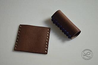 Materiál ručne robený - Kožené úchyty, rukojeť na kabelky - polotovar - 10832333_