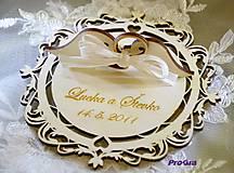 Prstene - Elegant - tanierik na obrúčky - 10831160_
