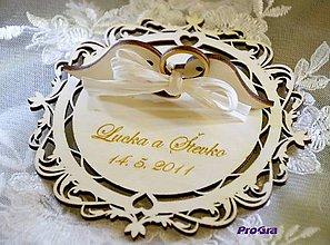 Krabičky - Elegant - tanierik na obrúčky - 10831160_