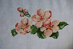 Iné doplnky - výšivka čerešňový kvet - 10831288_