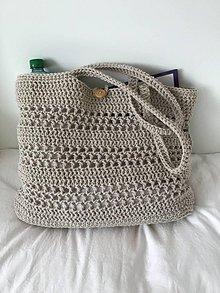 Veľké tašky - Háčkovaná plážová/nákupná taška - 10830814_