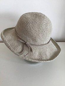 Čiapky - Háčkovaný klobúk na leto - 10830824_