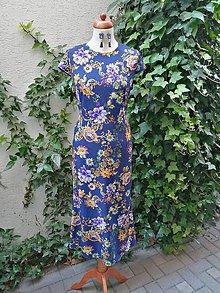 Šaty - Modrý ornament - 10832810_