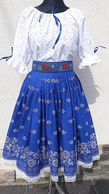 Šaty - Folklórny komplet s opaskom - 10832103_
