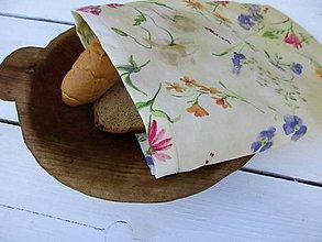 Úžitkový textil - veľké voskované vrecko-na lúke - 10832179_