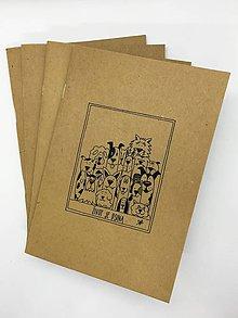 Papiernictvo - Papierový zošit s maľovaným motívom (Zošit - Život je psina) - 10831464_
