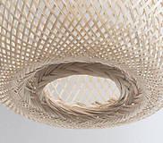 Svietidlá a sviečky - Tienidlo z bambusu 2. - 10832215_