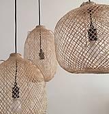 Svietidlá a sviečky - Tienidlo z bambusu 2. - 10832216_