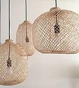 Svietidlá a sviečky - Tienidlo z bambusu 2. - 10832217_