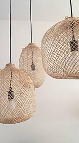 Svietidlá a sviečky - Tienidlo z bambusu 2. - 10832220_