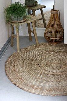 Úžitkový textil - jutový koberec - 10832090_