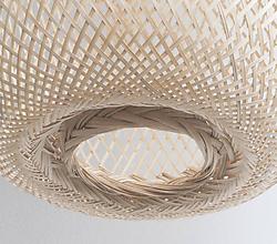 Svietidlá a sviečky - Tienidlo z bambusu - 10832124_