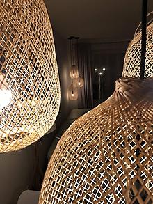Svietidlá a sviečky - Tienidlo z bambusu 2. - 10832213_