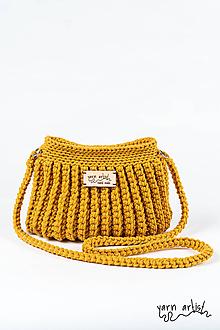 Kabelky - Háčkovaná taška ZARA, mustard - 10832762_