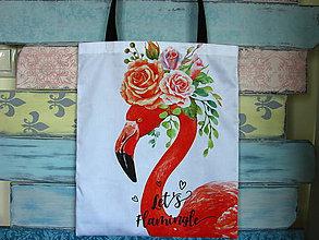Nákupné tašky - Taška Let´s flamingle - 10832285_