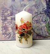 Svietidlá a sviečky - sviečka vlčie maky - 10832861_