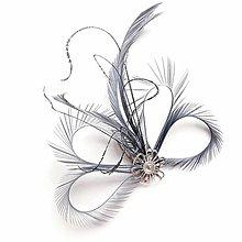 Ozdoby do vlasov - Fascinátor z peria - 10832671_