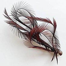 Ozdoby do vlasov - Fascinátor z peria - 10832716_