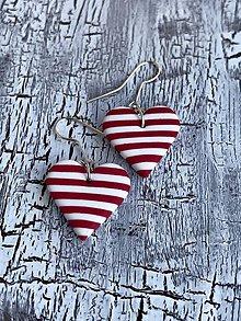 Náušnice - srdce námorníka (visiace náušnice) - 10832601_
