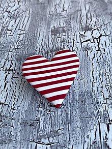 Náušnice - srdce námorníka (brošňa) - 10832609_