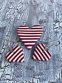 Náušnice - srdce námorníka (sada I.) - 10832614_