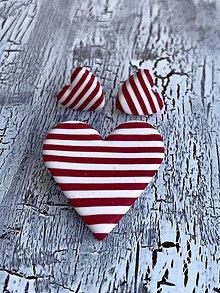 Náušnice - srdce námorníka (sada II.) - 10832621_
